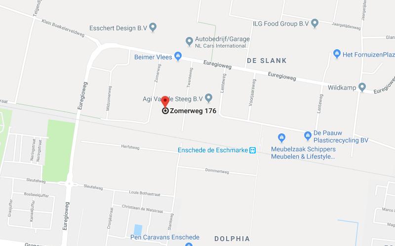 Google Map of zomerweg 176 enschede